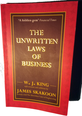 Book cover - The Unwritten Laws of Business