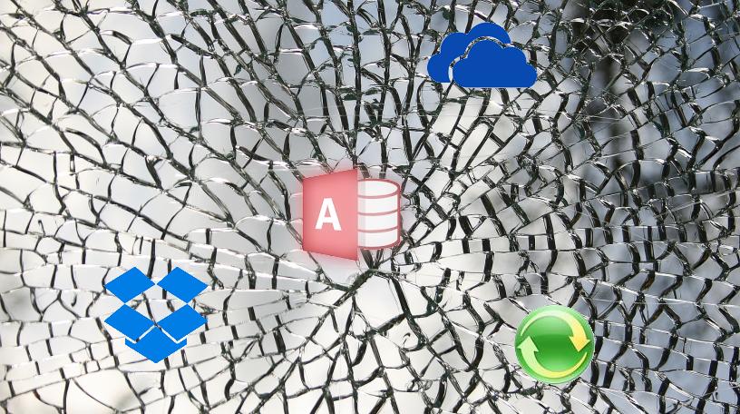 DropBox, OneDrive or Offline-Folder destroy your Access