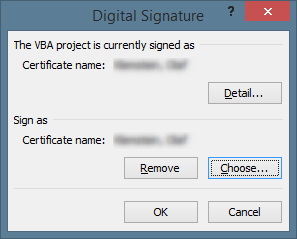 How to sign VBA code in an Access  accdb database - Codekabinett