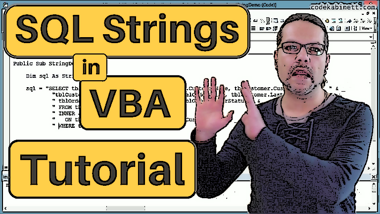 Article header, VBA-(SQL)-String Video-Tutorial for beginners