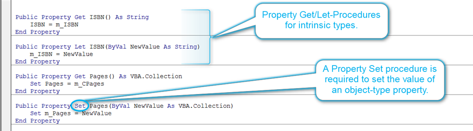 Property Get/Let/Set-Procedures in a VBA Class Module